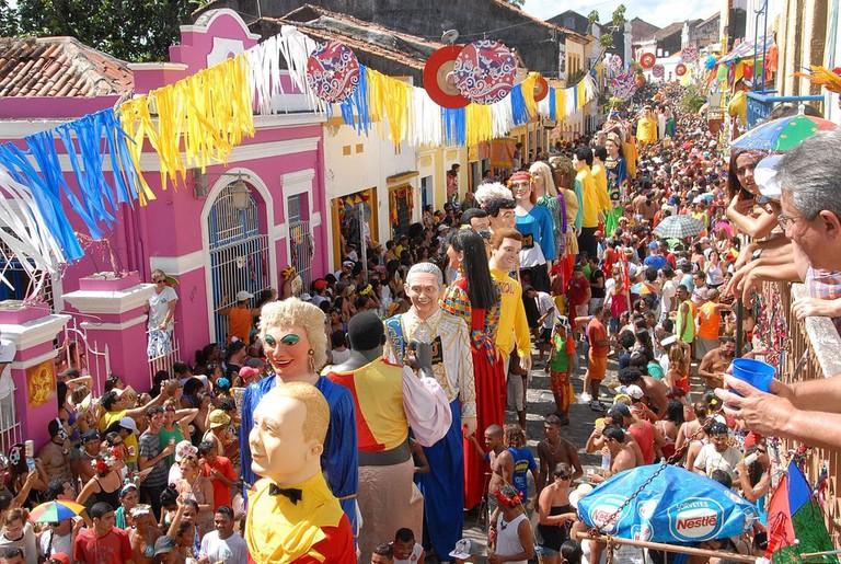 Carnival in Olinda in Brazil