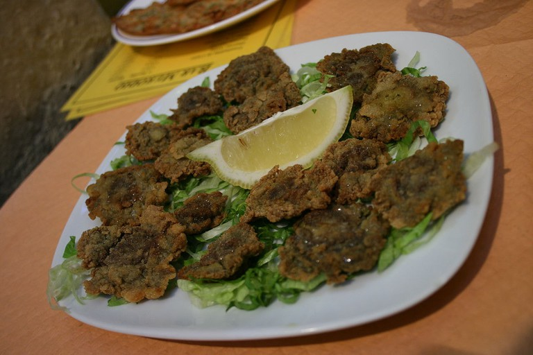 Ortiguillas fritas or sea anemones