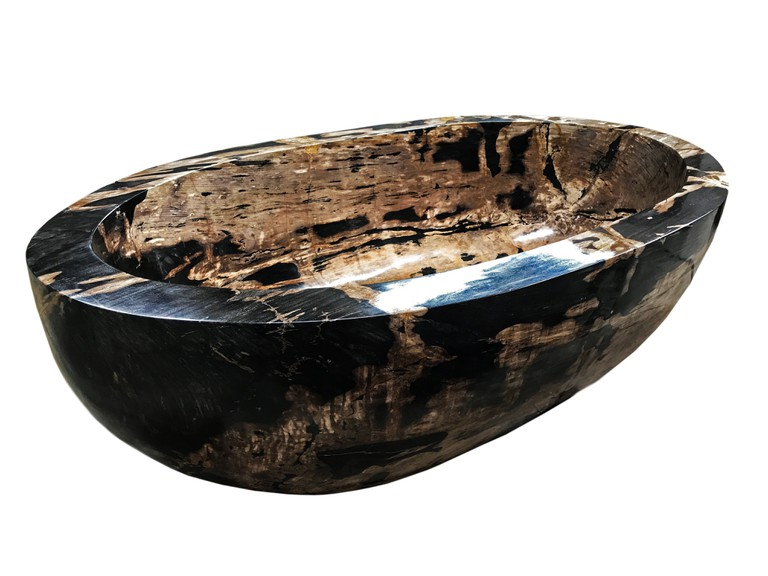 petrified wood bath white