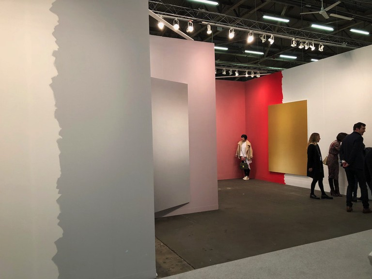 Installation view of Pieter Vermeersch's 'Untitled (from A-series and B-series)' at The Armory Show, Galerie Perrotin, 2018. Photo by Christine Lee