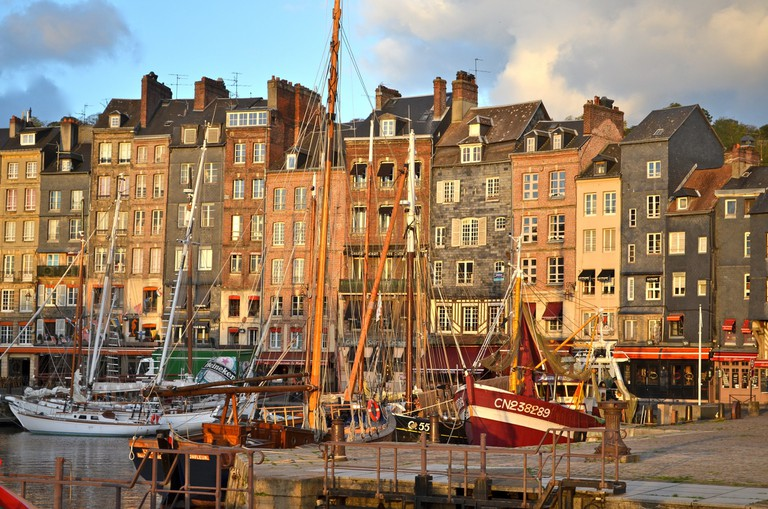 The dreamy port town of Honfleur in the morning sun