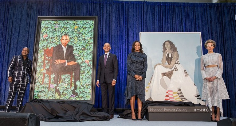 Portrait unveiling of former President Barack Obama and former First Lady Michelle Obama at the National Portrait Gallery in Washington, D.C., Feb. 12, 2018. Photo by Pete Souza.