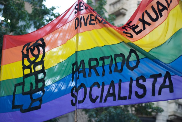 Socialist Party supporting LGBTQ rights in Buenos Aires
