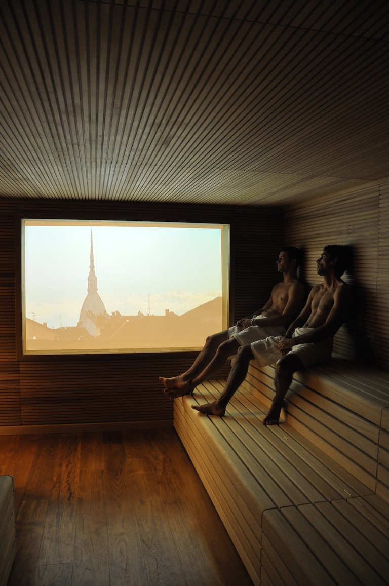 Sauna with a view at QC TermeTorino | Courtesy QC TermeTorino