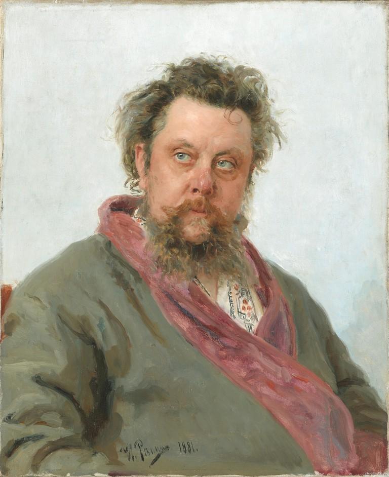 Mussorgsky, portrait by I. Repin