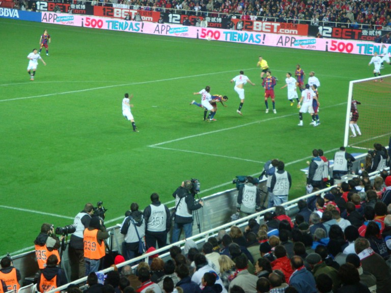 Seville take on visiting team Barcelona FC in 2011