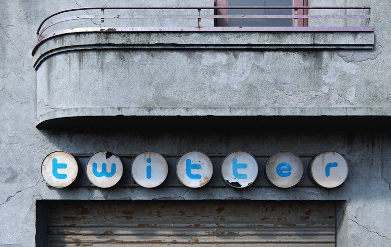Twitter as an abandoned shop sign