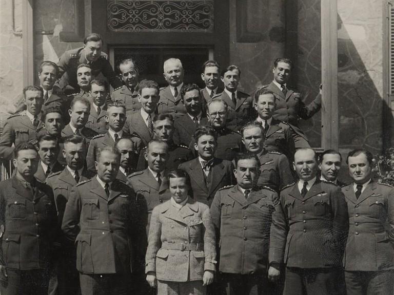 Sabiha Gökçen and her colleagues