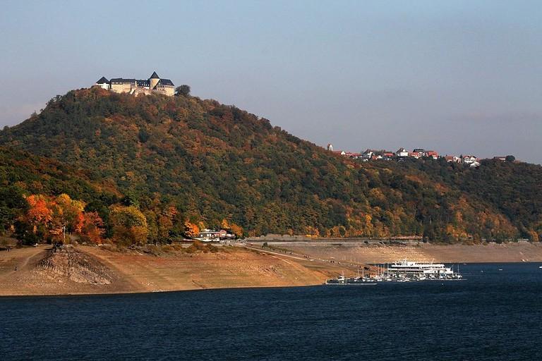 Edersee with Schloss Waldeck