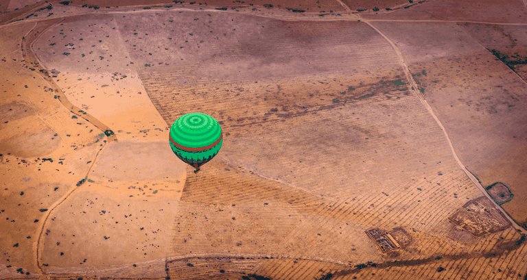 View from the hot air balloon in Marrakesh