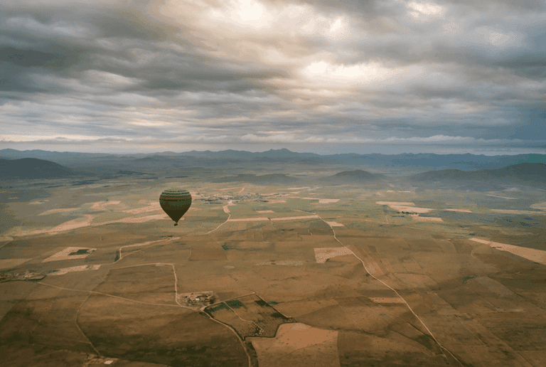 View from a hot air balloon in Morocco