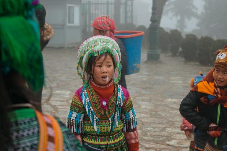 Traditional colorful attire