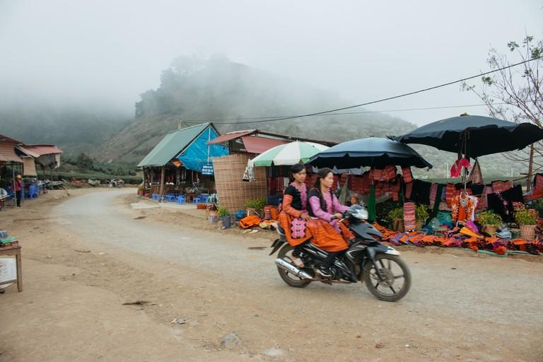 Moc Chau market in Vietnam