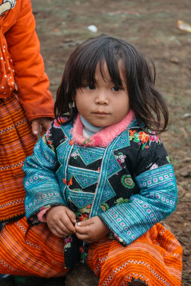 The easiest way to distinguish between the Hmong people are the colors of their clothing