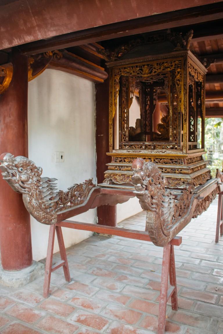 Intricate designs inside Nhat Tru Pagoda. Vu Pham Van /