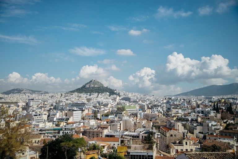 View of Athens from Anafiotika