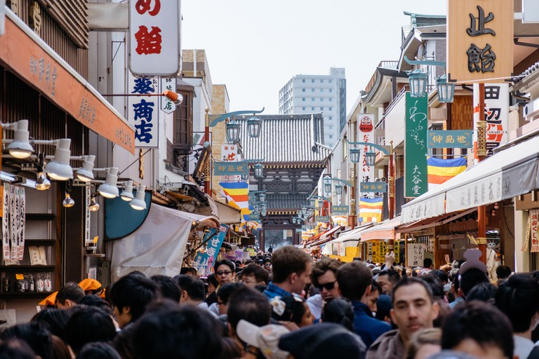 Streets are brimming with festival-goers