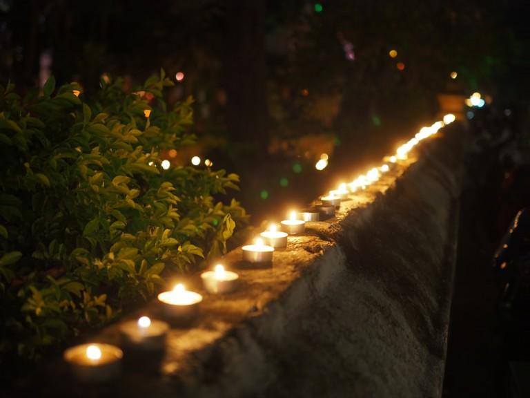 Lao candle lit vigil