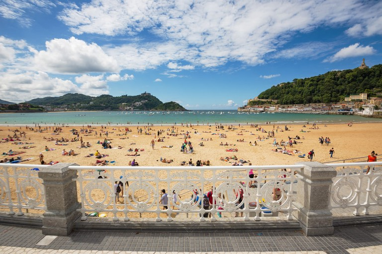Playa De La Concha, San Sebastian Beach, Spain