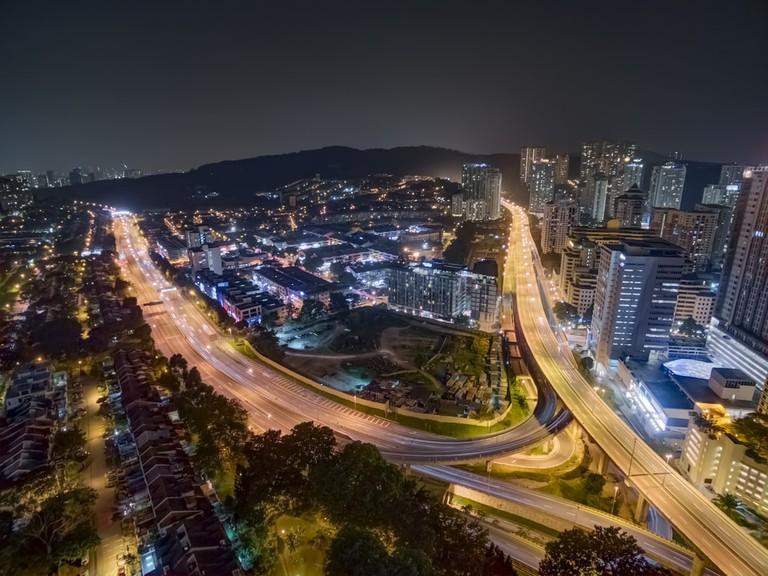 Aerial view of Sri Hartamas, Kuala Lumpur at night | © Wan Zaid/Shutterstock