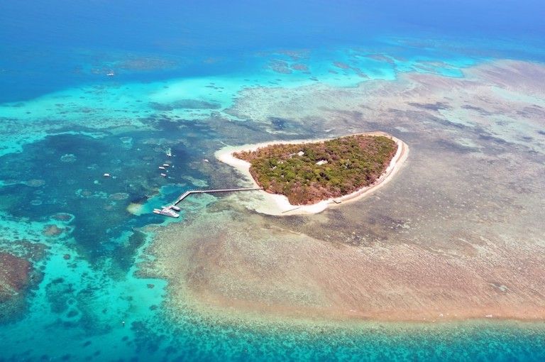 An aerial view of Green Island