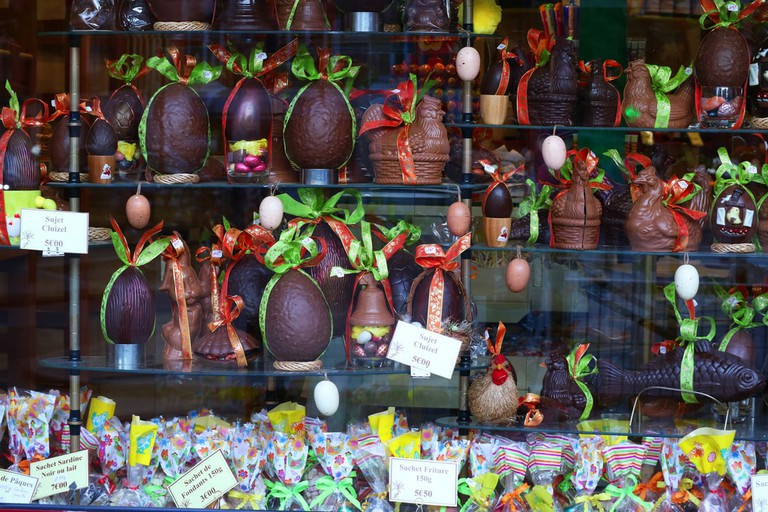 Easter in France is a great time to window shop chocolate
