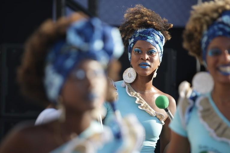 Banda Dida a female percussion group in Bahia Brazil