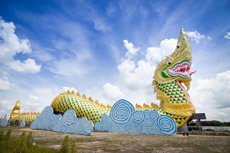 Naga statue in Yasothon, Thailand