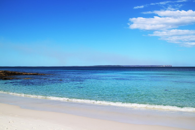 The world's whitest sand at Hyams beach, Jervis Bay, Australia