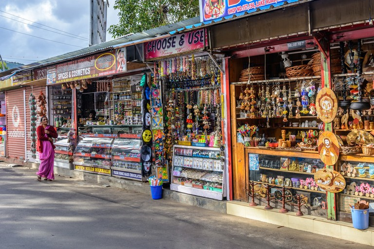 Local shops selling souvenirs and gifts in Kodaikanal