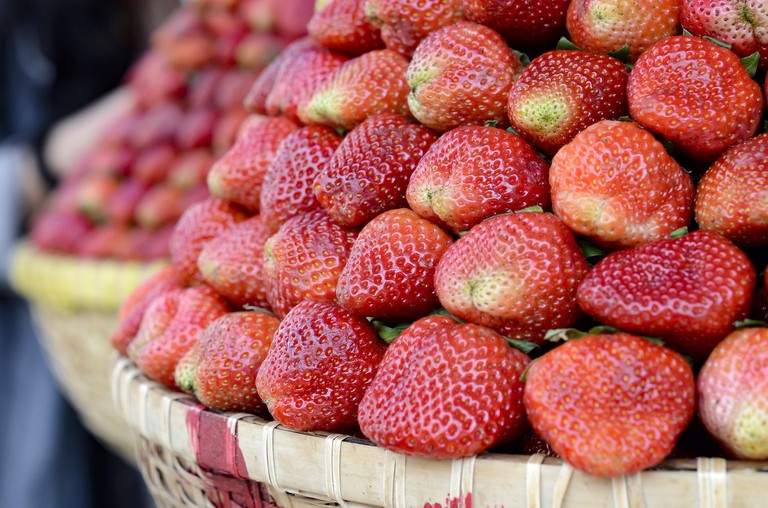 Delicious Da Lat strawberries.