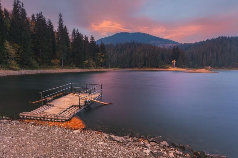 Synevir Lake, the Carpathians