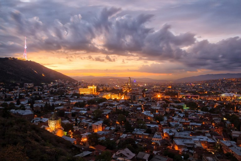 Tbilisi at sunset