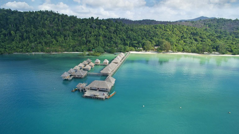 Telunas Beach Resort Aerial