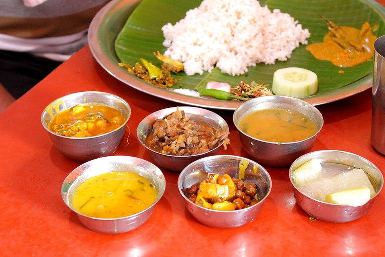 Traditional_Manipuri_Thali_and_side_dishes