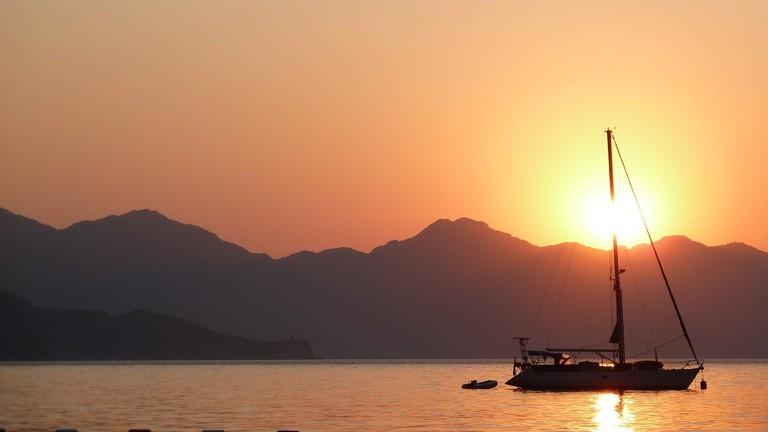 Sunset on the Turkish coast