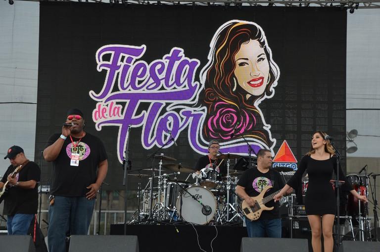 Fiesta de la Flor is a two-festival in Corpus Christi, honoring Selena Quintanilla-Perez