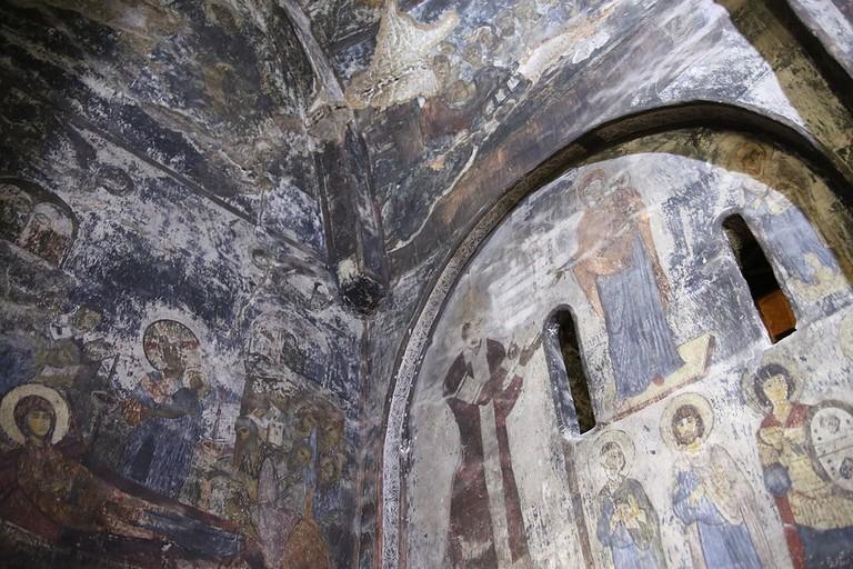 Vardzia fresco paintings