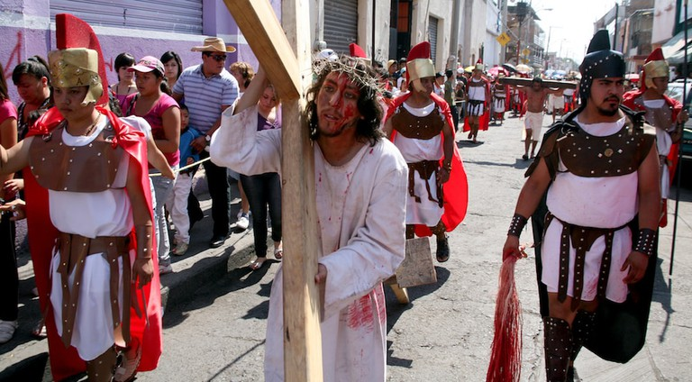 Passion Plays in Mexico dramatize Jesus' crucifixion