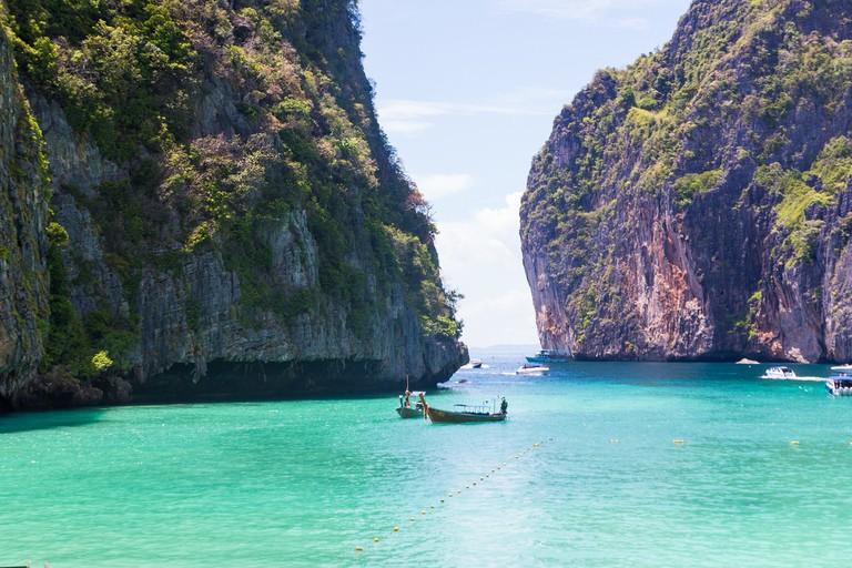 Maya Bay is to close to boats