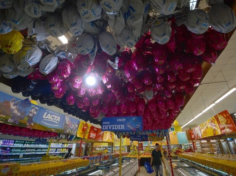 Easter eggs in the Brazilian supermarkets
