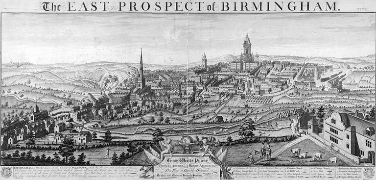 Birmingham on the cusp of the Industrial Revolution in 1732