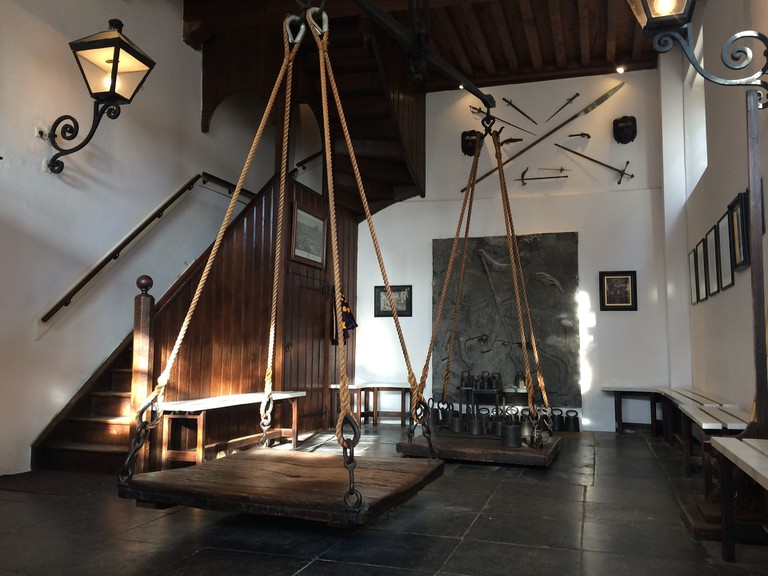 The scales that were used to weigh people charged with witchcraft