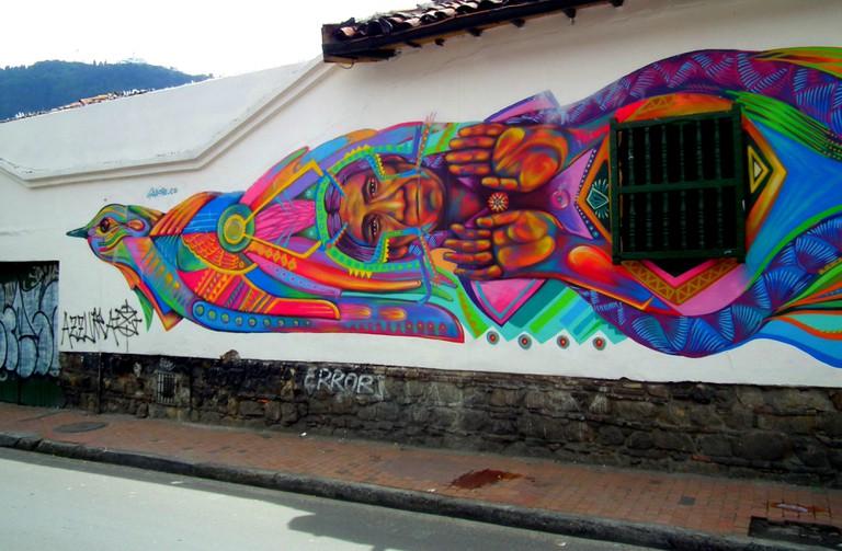 A Guache mural