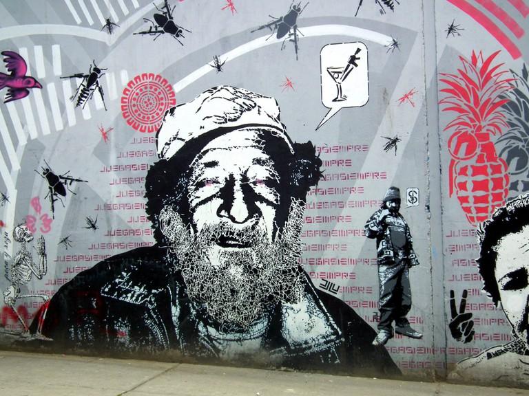 Political murals and stencils by DJ LU