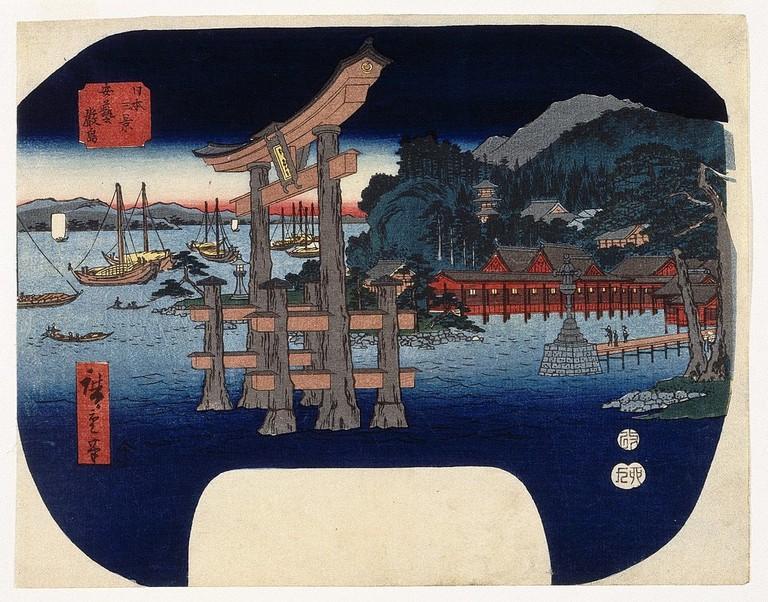 1024px-Brooklyn_Museum_-_Itsukushima_in_Aki_Province_-_Utagawa_Hiroshige_(Ando)