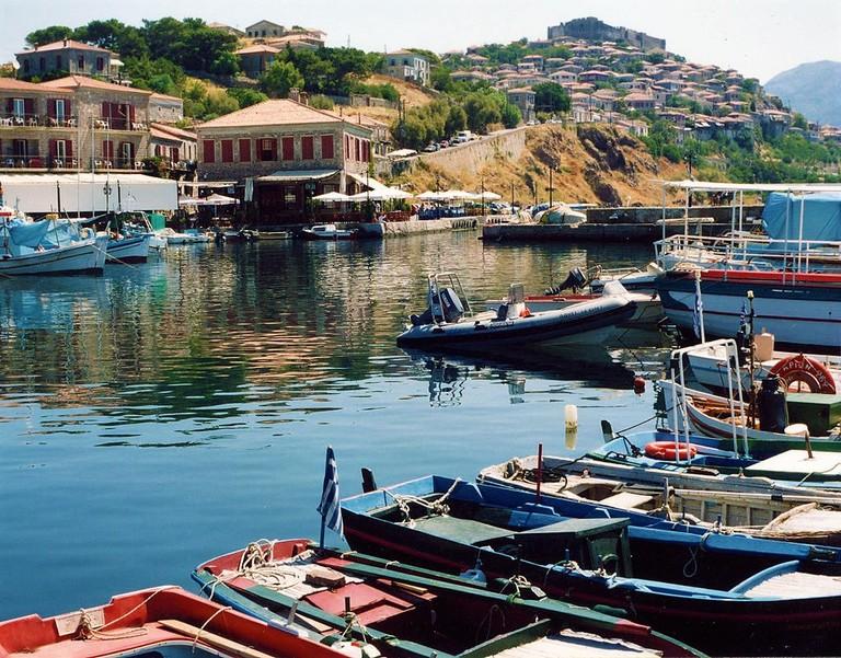 Molyvos harbor, Lesbos