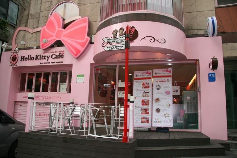Hello Kitty Cafe in Hongdae, Seoul, Korea