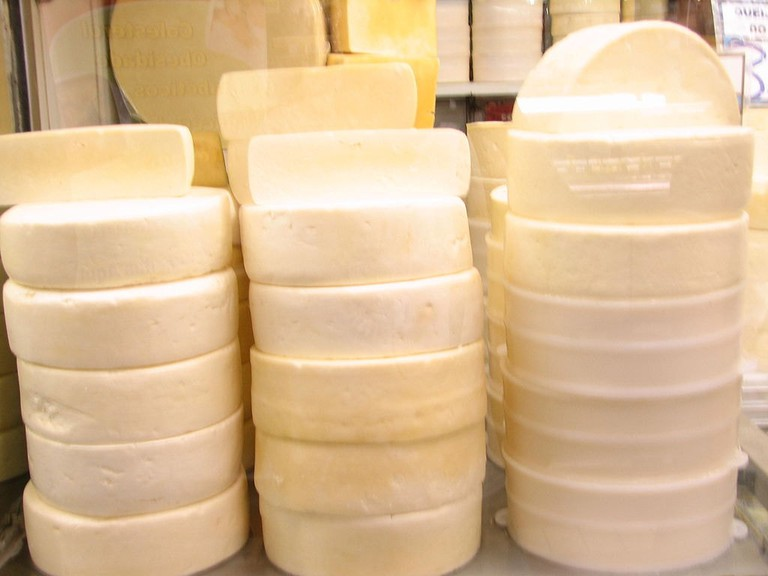 Queijo Canastra, a type of cheese from Minas Gerais
