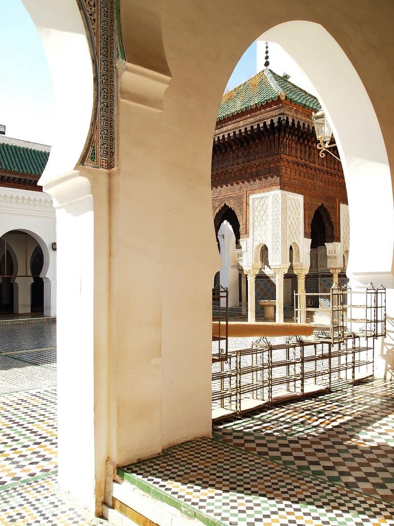 Outdoor area of Al-Qarawiyyin Mosque